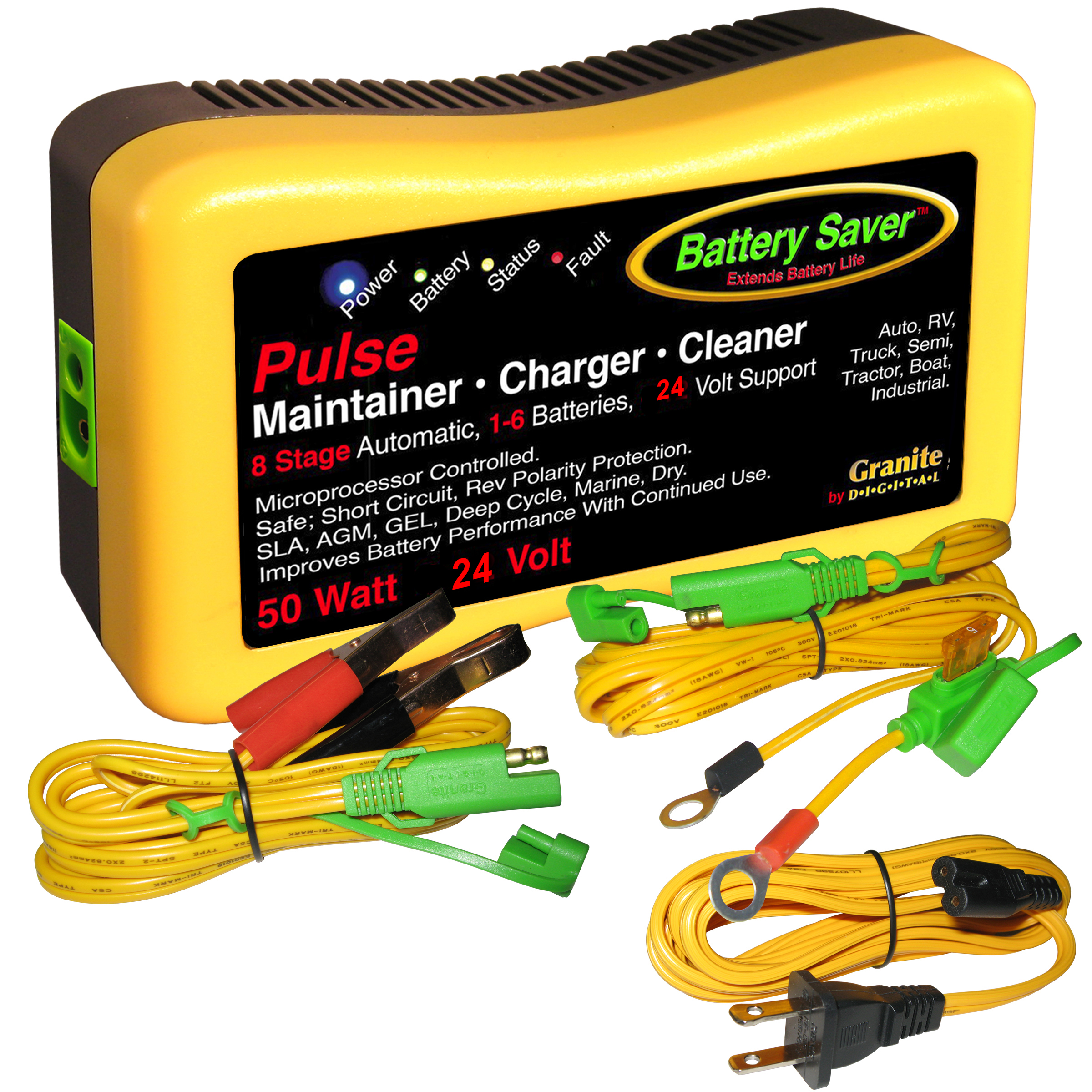 24 Volt 50 Watt Charger Maintainer Dc Battery Circuit Wiring Pulse Cleaner