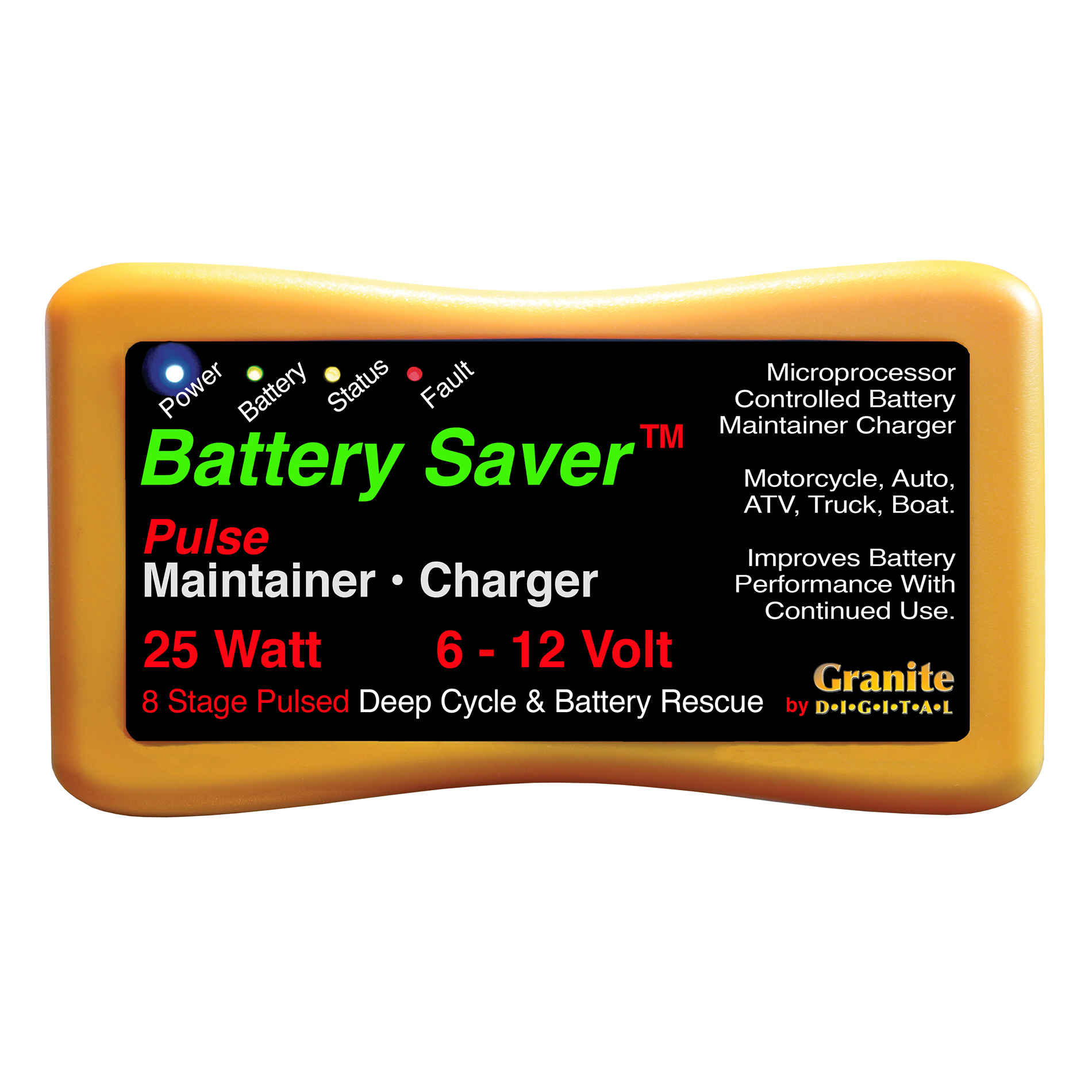 6 Amp 12 Volt 25 Watt Maintainer Amp Charger 12 Pack